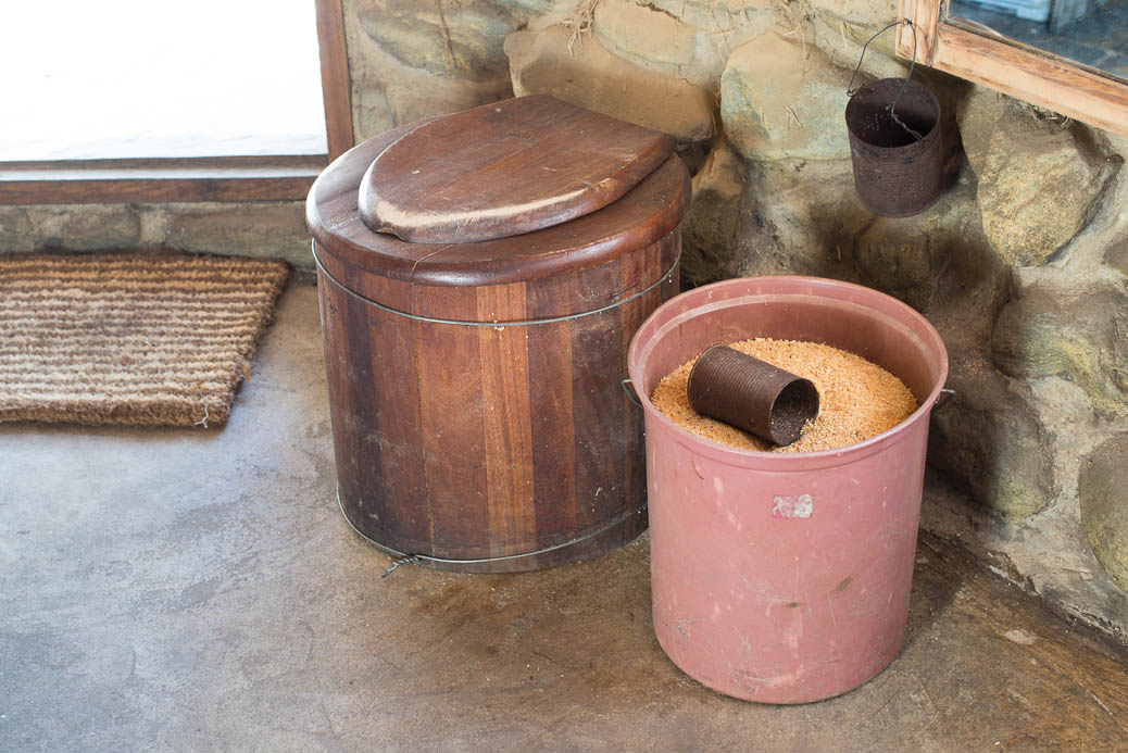 Sawdust humanure composting toilet